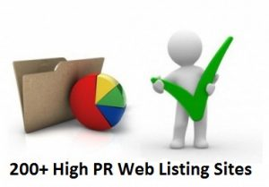 200+ High PR Web Listing Sites