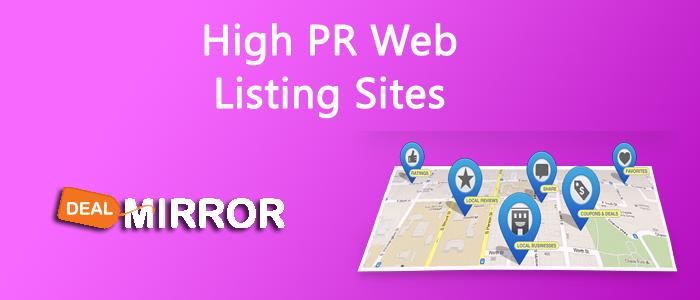 200+ High PR Web Listing Sites