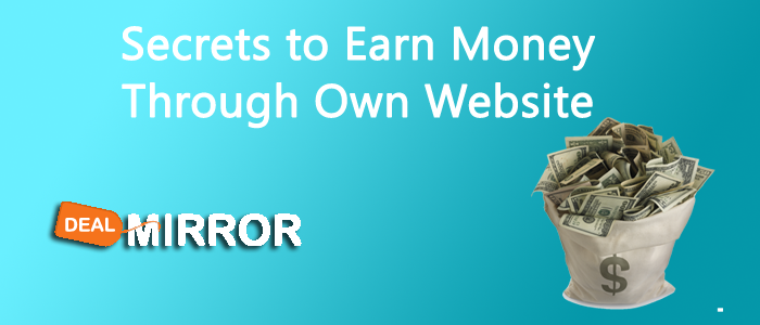 5 Secrets to Earn Money Through Own Website
