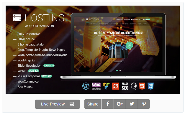 Hosting - Multipurpose WooCommerce Theme