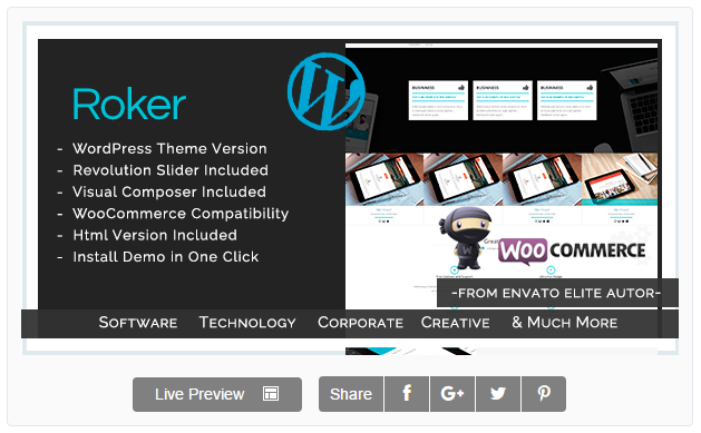 Roker - Software , App , Hosting & Business WordPress Theme