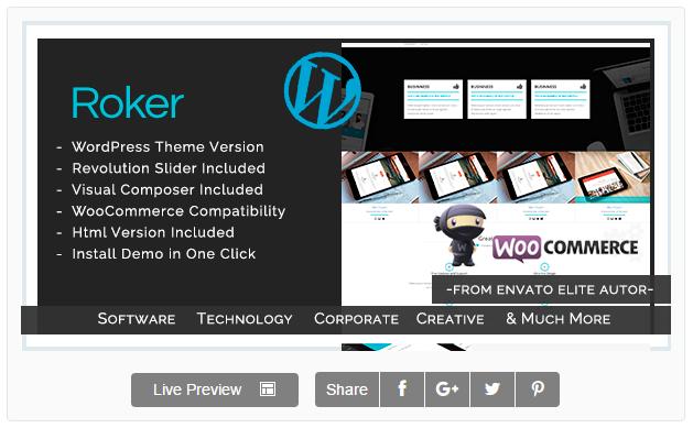 Roker - Software , App , Hosting & Business WordPress Theme