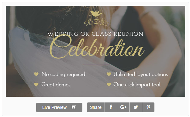 Celebration - Wedding & Class Reunion Theme