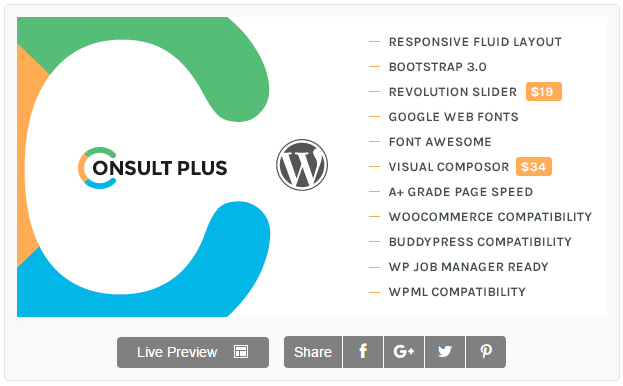 Consult Plus - Corporate Business WordPress Theme