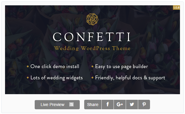 Confetti - Responsive Wedding Theme