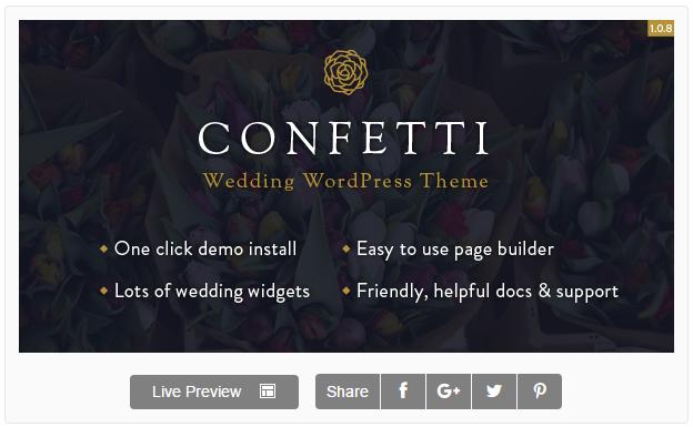Confetti - Responsive Wedding Theme