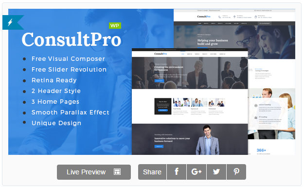 ConsultPro : Business, Finance, and Consultancy WordPress Theme