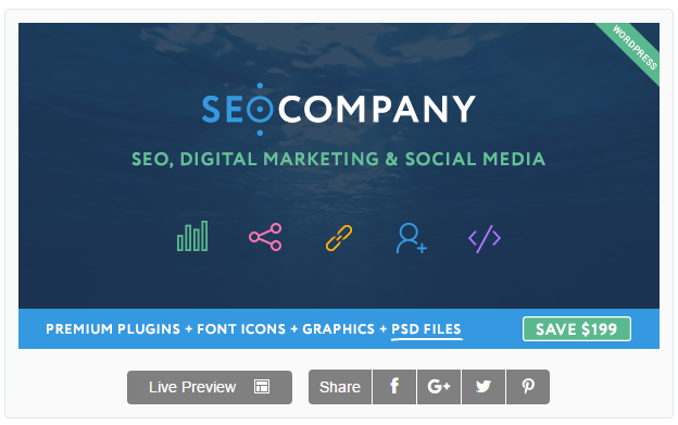 Seo Company: Seo, Digital Marketing, Social Media WordPress Theme