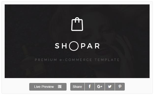 Shopar | Premium eCommerce WordPress Theme