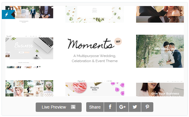 Moments - A Multipurpose Wedding, Celebration & Event Theme