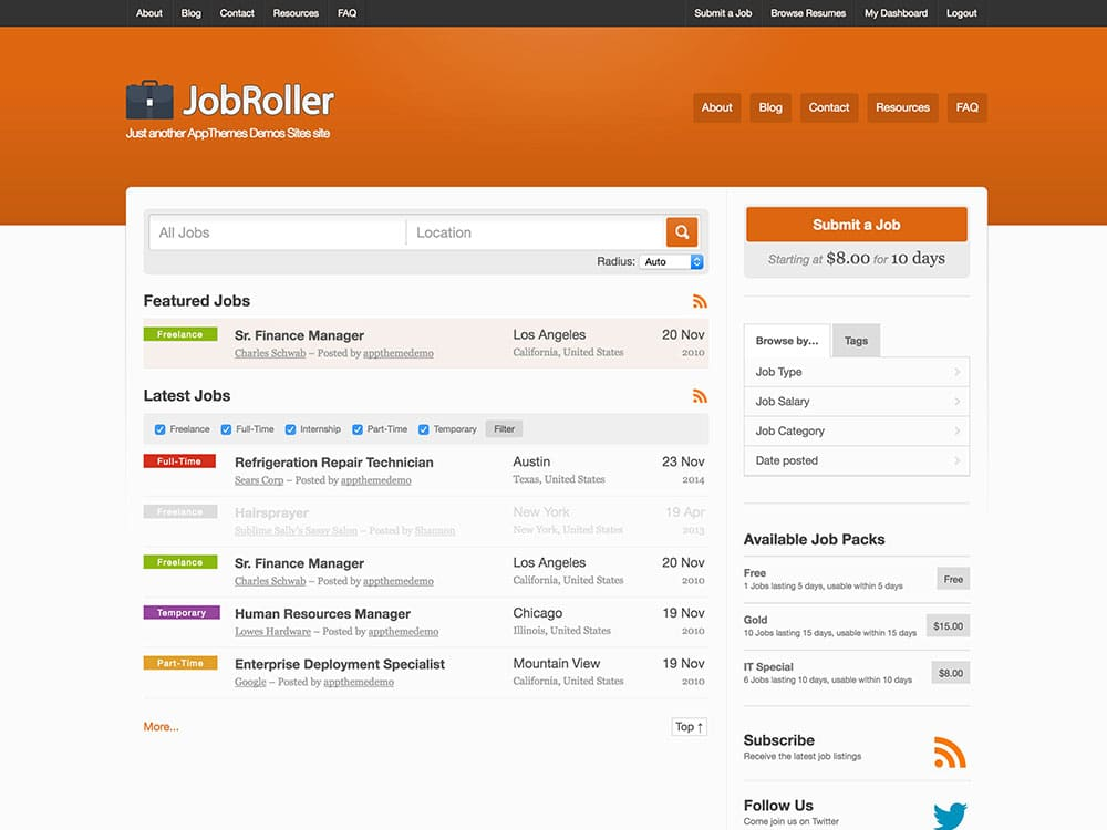 5+ Best Job Board WordPress Themes 2016