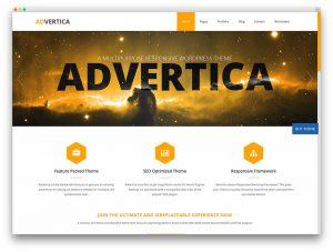 Advertica Lite Responsive & Free Parallax Scrolling WordPress Themes
