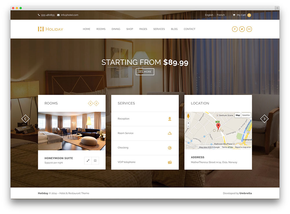 Hotel WordPress Themes - Holiday