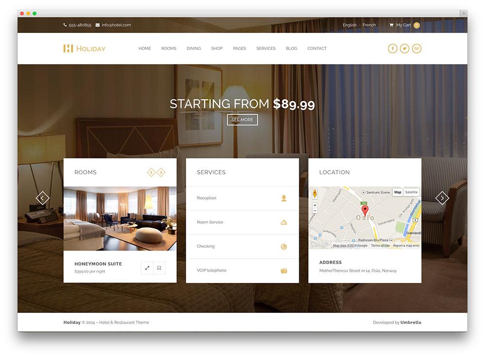 Hotel WordPress Themes - Holiday