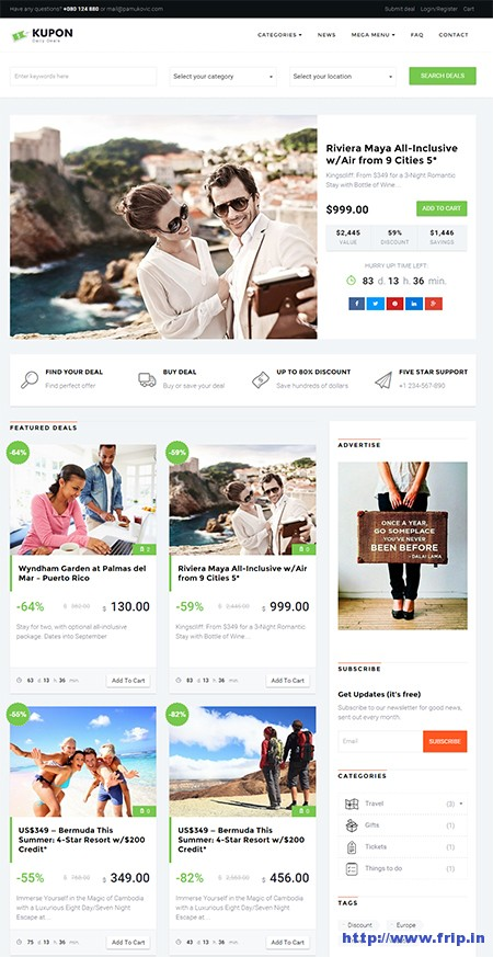 Daily deals wordpress theme download