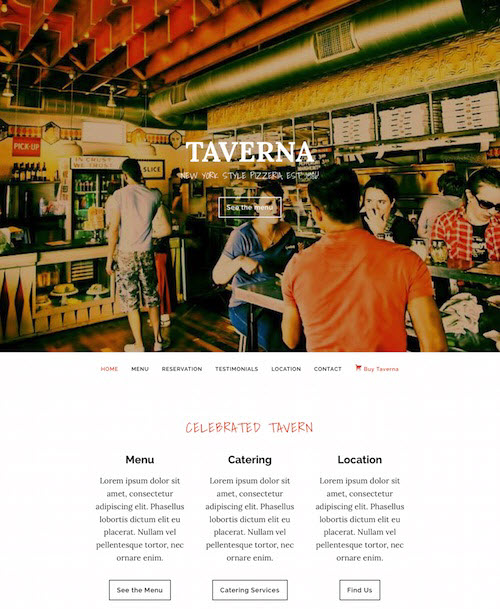 Taverna WordPress Theme