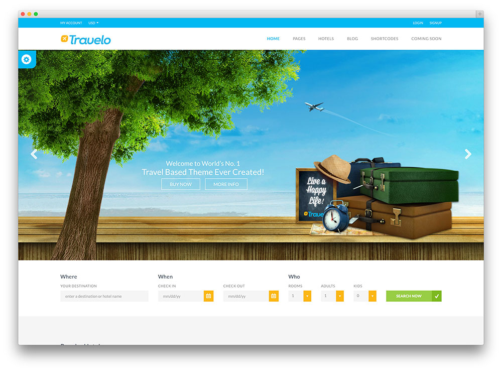10 Best Travel Wordpress Themes For Hotels Agencies