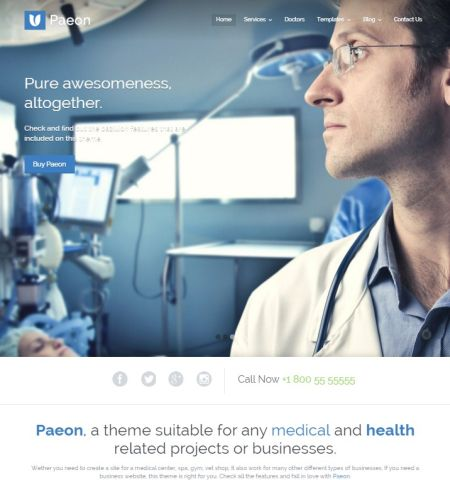 health & medical wordpress theme1