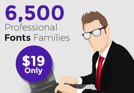6500 Professional Fantastic Fonts Families