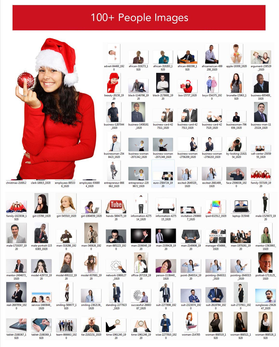 100+ Christmas People Images Bundle