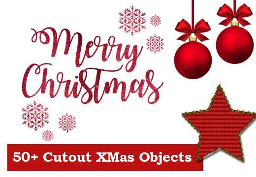 50+ Cutout Christmas Objects