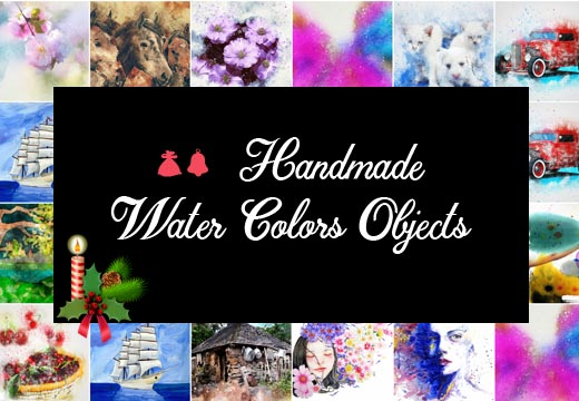 60+ Handmade Water Colors Objects