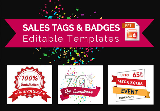 Business Sales Tags & Badges Editable Templates