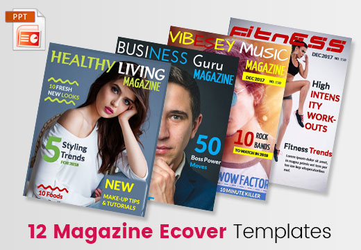 Business Magazine Ecover Templates PPT