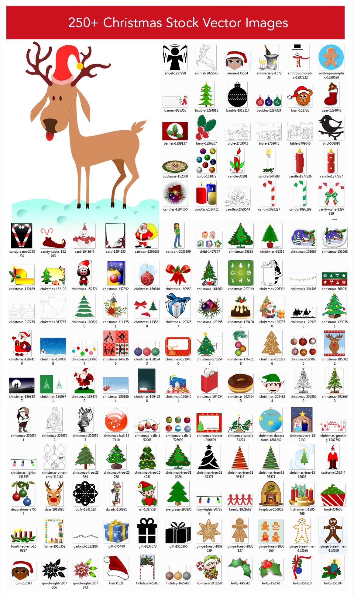 250+ Christmas Stock Vector Images