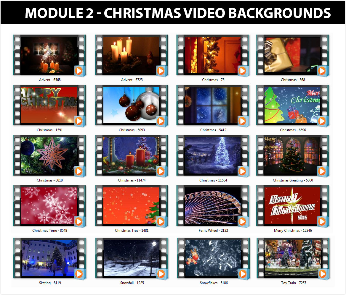 20+ HD Christmas Video Backgrounds
