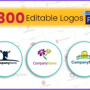 300 Professional Business Editable Logo PSD Design