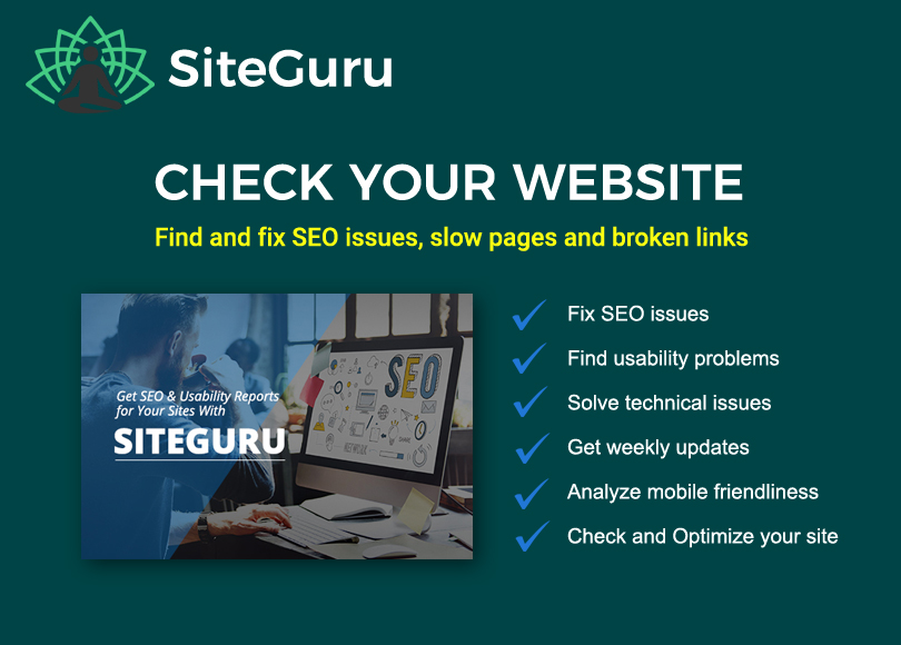 Lifetime SiteGuru SEO & Web Analyzer Tool for 2018
