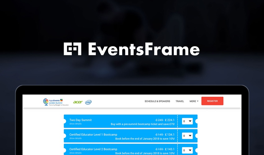EventsFrame Lifetime Deal