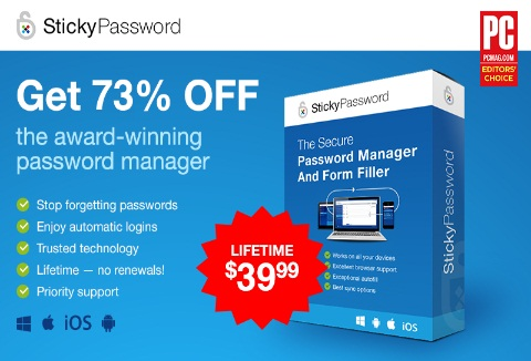 Sticky Password Lifetime Deal for $39