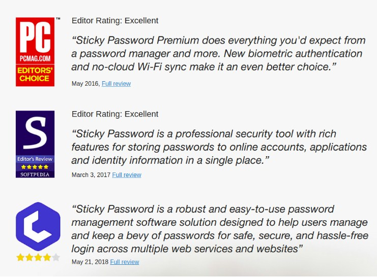 Sticky Password is a password manager and form filler