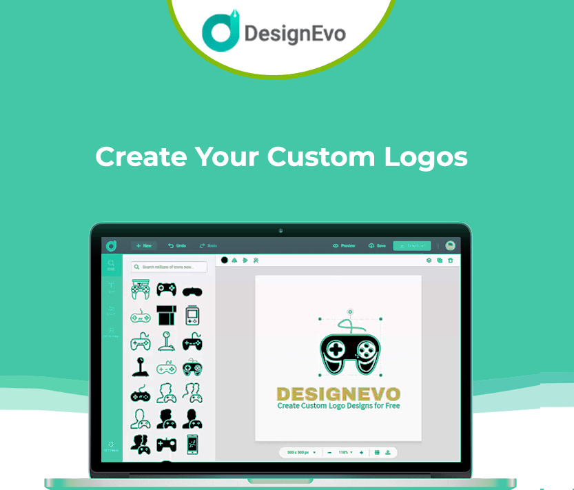 DesignEvo Lifetime Deal is a online logo maker with 10,000+ Templates